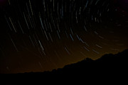 Startrails Photo Prints - Harriman Star Trails Print by Mike Horvath