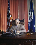 1945 Prints - Harry S. Truman Print by Granger