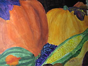 Acorn Squash Posters - Harvest Time Poster by Sandy McIntire