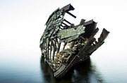 Gloomy Framed Prints - Harvey Neelon shipwreck so they say... Framed Print by Jakub Sisak