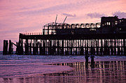 Hastings Pier After The Fire Print by Dawn OConnor