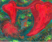 Greeting Cards Ovarian Cancer Painting Prints - Have Hope In Your Heart Print by Annette McElhiney