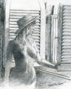 Pensive Drawings Originals - Hawaii by Neal Smith-Willow