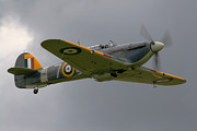 Bomber Escort Photo Posters - Hawker Hurricane Poster by Ken Brannen