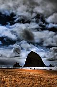 Sandy Beaches Posters - Haystack Rock Poster by David Patterson