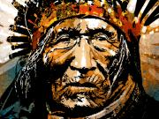 Native American Painting Metal Prints - He Dog Metal Print by Paul Sachtleben