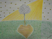 Healing Drawings Metal Prints - Healing Metal Print by Lisa DeBauche