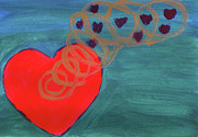 Heart Chakra Paintings - Heart Spring 1 by Suzie Cheel
