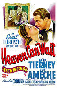 Jbp10ju11 Framed Prints - Heaven Can Wait, Gene Tierney, Don Framed Print by Everett