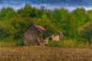 Outhouse Print Photos - Heccas House by Lawrence Conyers