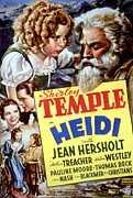 Postv Framed Prints - Heidi, Shirley Temple, Jean Hersholt Framed Print by Everett
