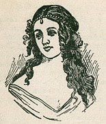 Helen Jewett 1813-1836 Was An New York Print by Everett