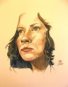 Watercolour Portrait Posters - Helen Poster by Ray Agius