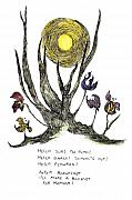Sunshine Drawings Prints - Hello Sun Print by Lily Hymen