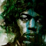 Singer Painting Acrylic Prints - Hendrix Acrylic Print by Paul Lovering
