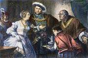 Boleyn Prints - Henry Viii And Anne Boleyn Print by Granger