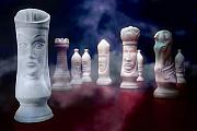 Chess Set Framed Prints - Her Majesty Framed Print by Tom Mc Nemar