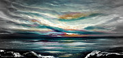 Sunsets Original Paintings - Here I Stand - Panoramic Sunset by Gina De Gorna
