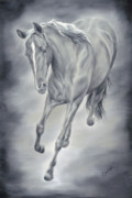 Wild Horse Posters - Here She Comes Poster by Cathy Cleveland