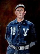 Baseball History Painting Posters - Herman Long Poster by Ralph LeCompte