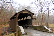 Lewisburg Framed Prints - Herns Mill Covered Bridge Framed Print by Carolyn Postelwait