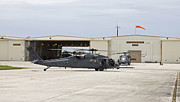 Hangar Prints - Hh-60g Pave Hawk Helicopters At Kadena Print by HIGH-G Productions