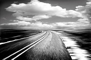 Black Top Prints - Highway Run Print by Scott Pellegrin