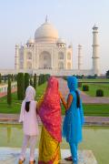 Women Together Posters - Hindu women at the Taj Mahal Poster by Bill Bachmann - Printscapes