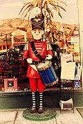 Small Towns Prints - Historic Niles District in California Near Fremont . Little Drumer Boy at The Vine . 7D10691 Print by Wingsdomain Art and Photography