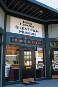 Niles Canyon Railway Prints - Historic Niles District in California Near Fremont . Niles Essanay Silent Film Museum Edison Theater Print by Wingsdomain Art and Photography