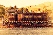 Caboose Prints - Historic Niles Trains in California . Old Southern Pacific Locomotive . 7D10867 Print by Wingsdomain Art and Photography