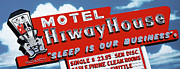Route 66 Paintings - Hiway House Motel by Anthony Ross