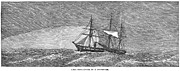 1874 Photo Prints - Hms Challenger, 1874 Print by Granger
