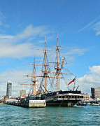 Tall Ships Prints - HMS Warrior Print by Sharon Lisa Clarke