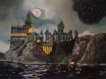 Hogwart's Castle Print by Tim Loughner