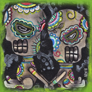 Sugar Skull Posters - Holding you Poster by  Abril Andrade Griffith