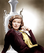 Brooch Framed Prints - Holiday, Katharine Hepburn, 1938 Framed Print by Everett