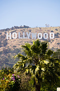 Monica Metal Prints - Hollywood Sign Photo Metal Print by Paul Velgos