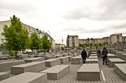 Berlin Germany Framed Prints - Holocaust Memorial - Berlin Framed Print by Jon Berghoff