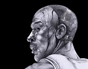 Michael Jordan Drawings - Homage To Jordan by Lee Appleby
