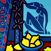 Life Greeting Cards Prints - Homage To Matisse I Print by John  Nolan