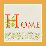 Housewarming Framed Prints - Home Framed Print by Bonnie Bruno