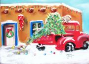 Chevy Pastels Prints - Home For Christmas Print by Dolores Aragon
