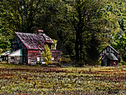 Tennessee Farm Digital Art Prints - Home Sweet Home Print by EricaMaxine  Price