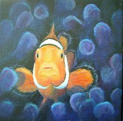 Fish Underwater Paintings - Home Sweet Home by Jennifer Belote
