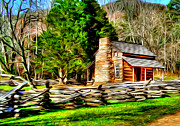 Gatlinburg Digital Art Framed Prints - Homestead  Framed Print by Jason Abston