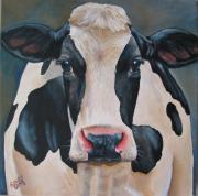 Calf Paintings - Honey by Laura Carey