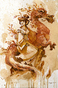 Fantasy Tapestries Textiles - Honor and Grace by Brian Kesinger