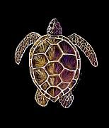 Ocean Turtle Paintings - Honu by Kirsten Carlson