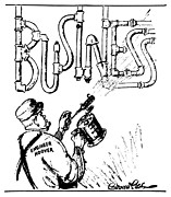 Business Cartoon Art - Hoover Cartoon, 1931 by Granger